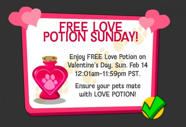 happy pets free love potion