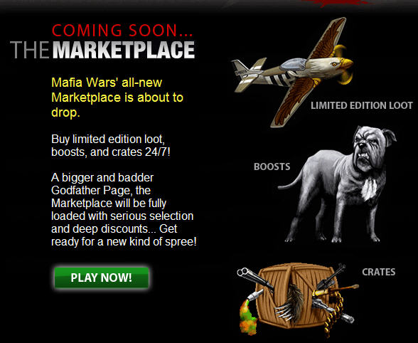 Mafia Wars marketplace
