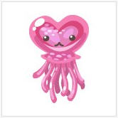 pet society valentine heart-shaped jellyfish