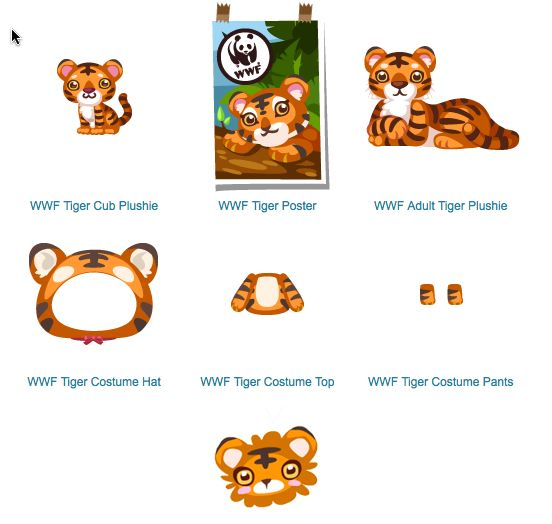 pet society world wildlife federation support with tigers