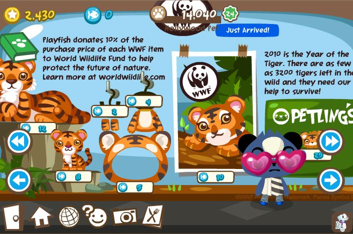 pet society tigers