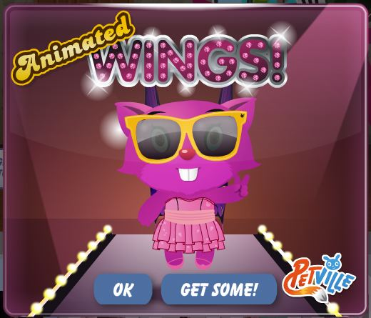 petville animated wings