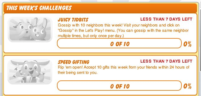 new petville challenges -- juicy tidbits and speed gifts