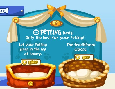 New Petling Beds in Pet Society