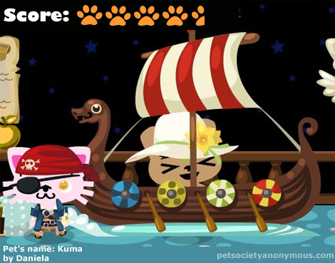 Pet Society Viking Boat