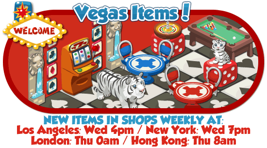 Restaurant City Vegas Items