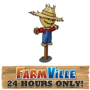 cafe world farmville mini-scarecrow collectible