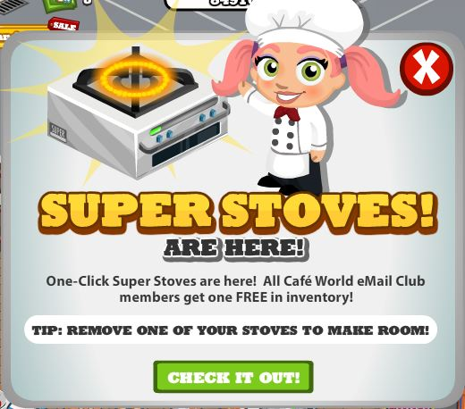 Cafe World Super stoves arrive