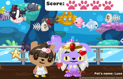 Pet Society Coral Reef Wall