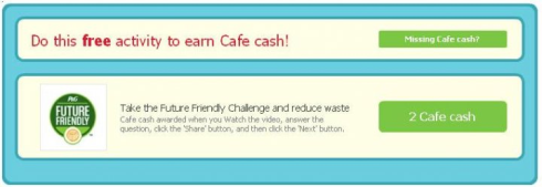 Cafe World 2 Free Cash from Future Friendly