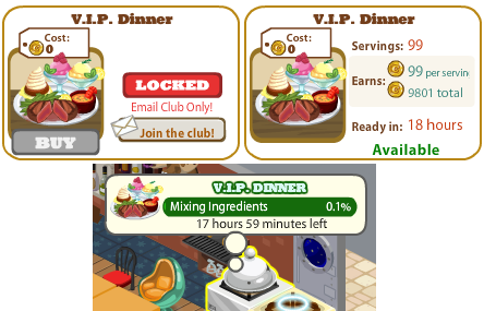 Cafe World VIP recipe