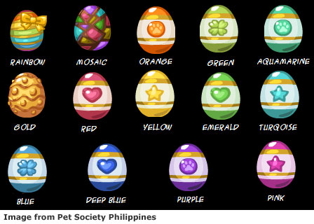 14 Pet Society Easter Eggs