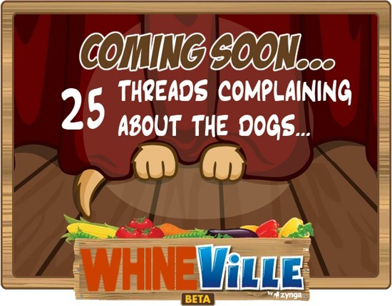 FarmVille becomes WhineVille over new dog