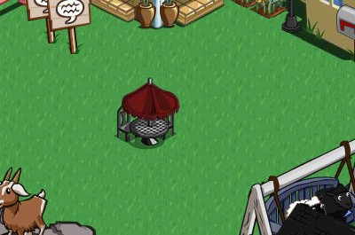 Farmville french chateau decorations bistro table