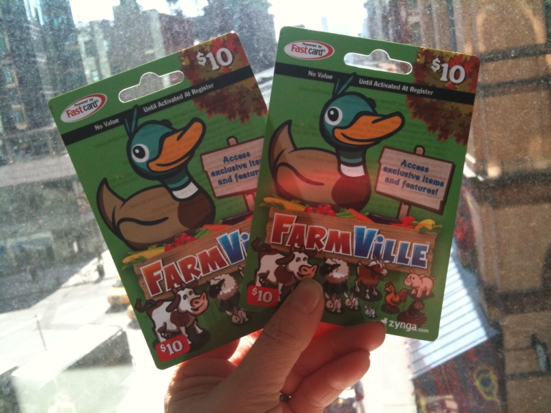 farmville cash cards -- happy spring!