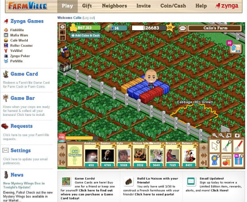 FarmVille.com screen