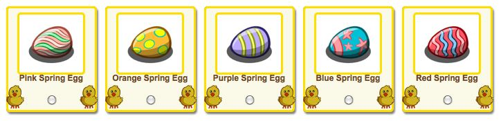 farmville easter eggs as free gifts