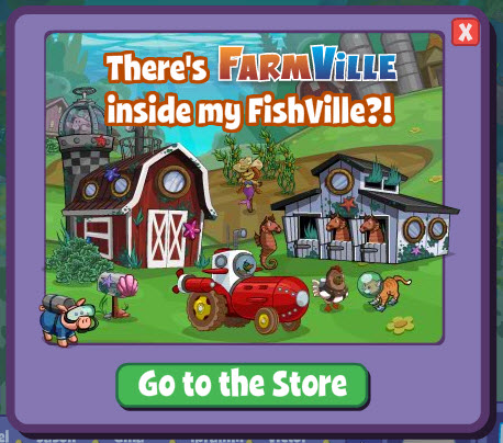 farmville items appear in fishville