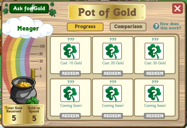 farmville pot of gold