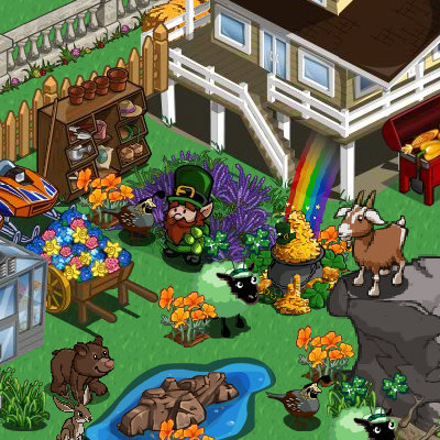 FarmVille st. patrick's day pot of gold redeemable items