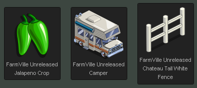 Unreleased FarmVille items