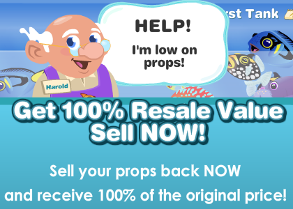 Get 100% Resale on Happy Aquarium items
