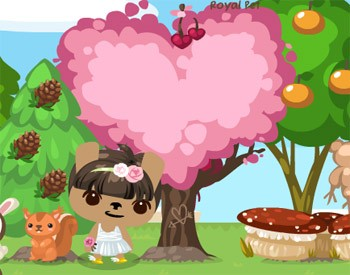 Pet Society Love Cherry Tree