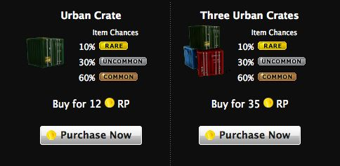 mafia wars urban crate