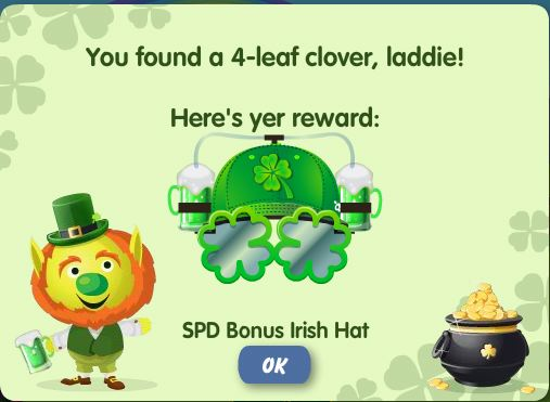 petville four leaf clover game reward