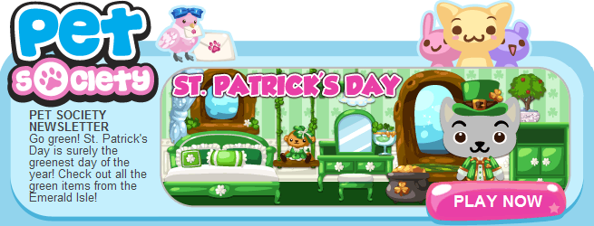 Pet Society St. Patrick's Day