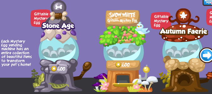 Mystery Egg Vending Machine in Pet Society