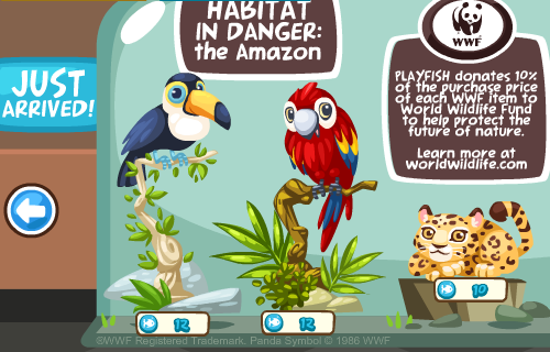 Pet Society Amazon animals