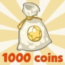Restaurant City 1000 free coins