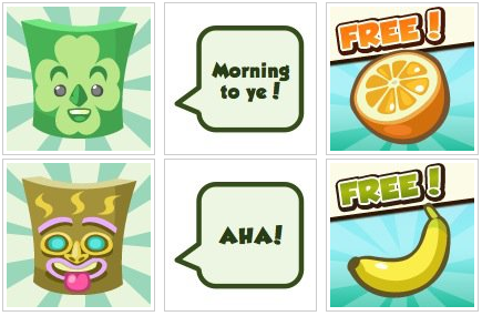 Free Orange and Banana from Restaurant City