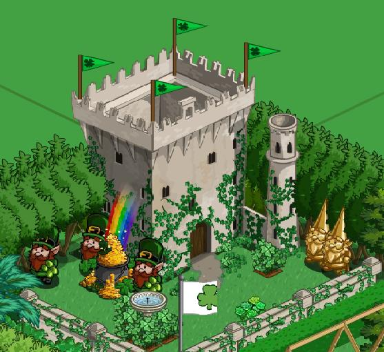 farmville shamrock castle -- one of the hot items for St. Patrick's Day