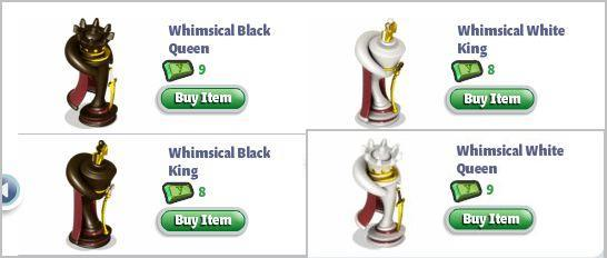 YoVille Whimsical King and Queen pieces