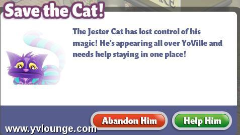 YoVille Save the Jester Cat!