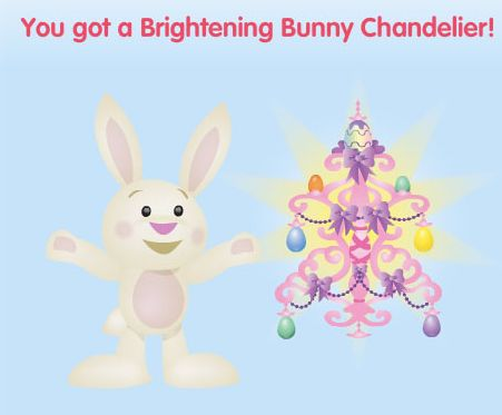 Brightening Bunny Chandelier