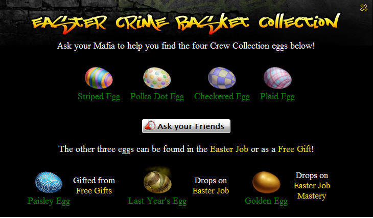 mafia wars crime easter basket