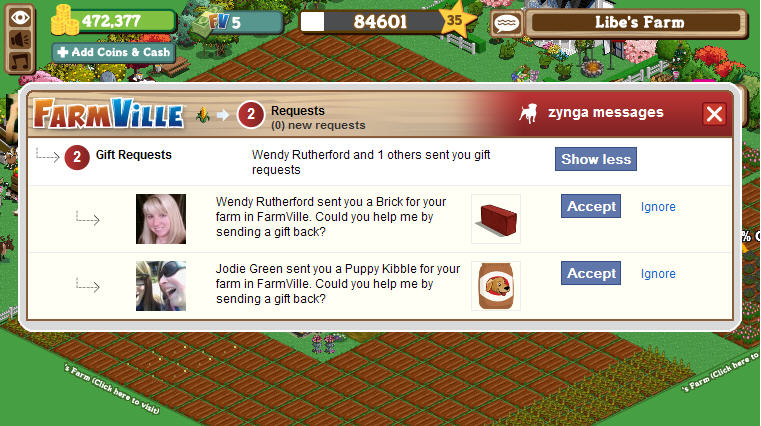 farmville gifting