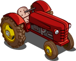 FarmVille Unreleased Red Tractor