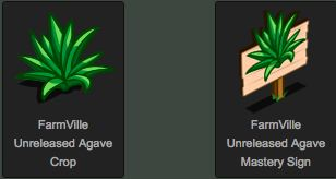 FarmVille unreleased agave crop and mastery sign