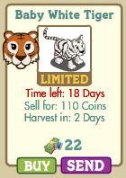 farmville baby white tiger appears in market