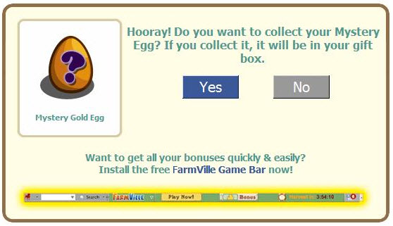 FarmVille gold mystery egg