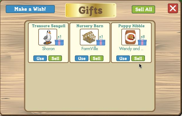 farmville puppy kibble in gift box