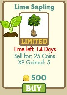 farmville lime sapling