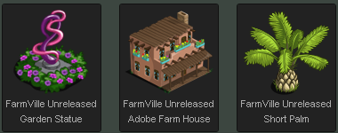 FarmVille Unreleased items