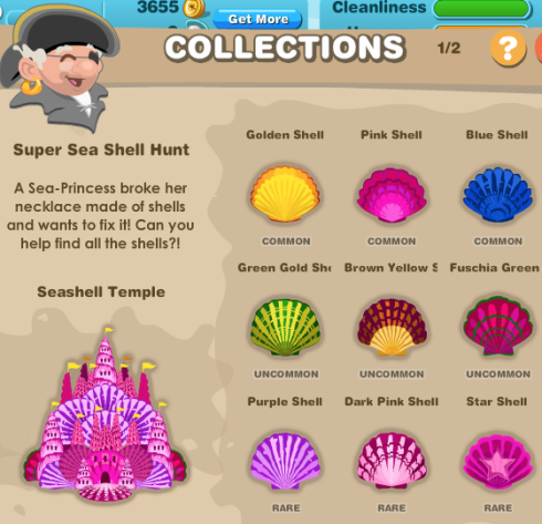 Happy Aquarium Full Sea Shell Hunt Collection