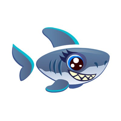 happy aquarium shark chompers