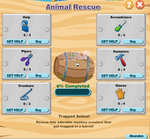 Happy Aquarium Animal Rescue tools